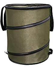 CALIDAKA Collapsible Gardening Bag, 10 Gallon Leaf Bag, Collapsible Lawn and Leaf Waste Bag, Reusable Trash Can for Lawn Yard Pool Plant Trash Trimming Gardening Containers