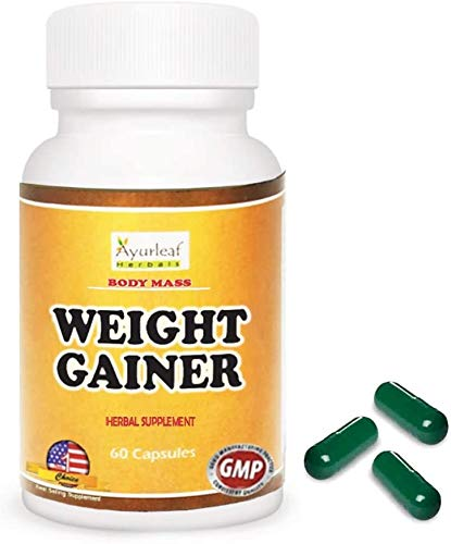 Ayurleaf Weight Gainer Weight Gain Formula Men or Women. Gain Weight Pills (60) Tablets – 1, 2, 3 or 4 Bulk Packs…