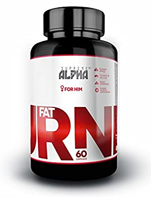 SUPREME ALPHA: Thermogenic Fat Burner for MEN! - Weight Loss Capsules! - Lose weight and Preserve Muscle!