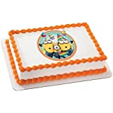 Despicable Me 2 Minions Birthday Edible Icing Image Cake Topper Frosting Sheet