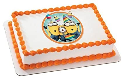 Amazoncom Despicable Me 2 Minions Birthday Edible Icing Image Cake