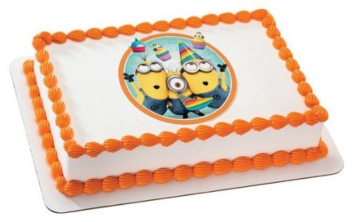 Minions Cake Pan (Despicable Me 2 Minions Birthday Edible Image Cake Topper Frosting)