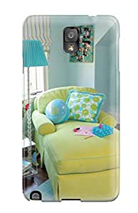 Hot Fashion Design Case Cover For Galaxy Note 3 Protective Case (teen Bedroom With Funky Lime Chaise And Blue Walls And Rug)