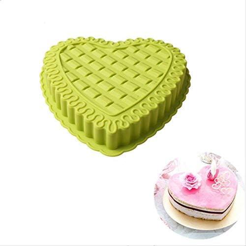 Moule à pâtisserie bol de cuisson facile à nettoyer en forme de coeur, moule en silicone Plaque de four, 4-Pack, moule gâteau, for faire des gâteaux, gelée 8bayfa