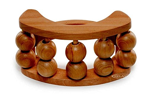 Relaxus Schima Superba Wood Half-Moon Back & Body Roller Massger