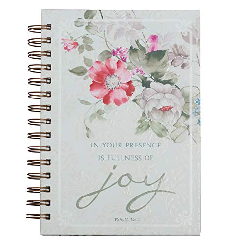 Fullness of Joy Large Hardcover Wirebound Journal - Psalm 16:11