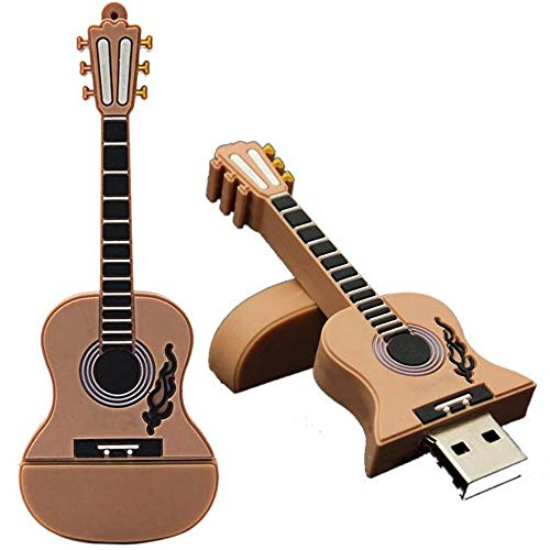 (CEspace 16GB USB Flash Drive 2.0 Metal Guitar Shape Anti-Skid Flash Drive Memory Stick Thumb Drives)