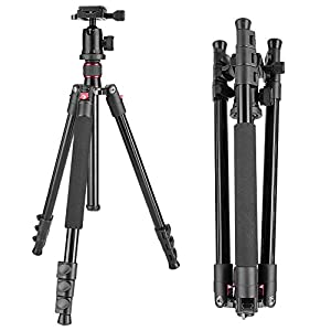 "Neewer Alluminum Alloy 62""/158cm Camera Tripod with 360 Degree Ball Head, 1/4"" Quick Shoe Plate, Bag for DSLR Camera, Video Camcorder, Load up to 17.6lbs/8kg"