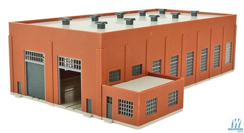 Walthers Corn Trims 93332662Continuous Steam Locomotive Shed Brick
