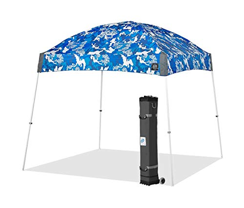 E-Z UP DM3WH10CB Dome Instant Shelter Canopy, 10 by 10', Camo Blue, 10x10 Limited Edition ()
