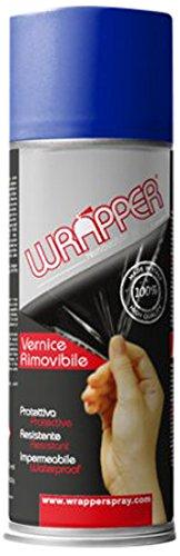 Quattroerre 16430 Wrapper Spray Vernici Rimovibili Tinta Speciale, Blu Fluo Quattroerre Italia