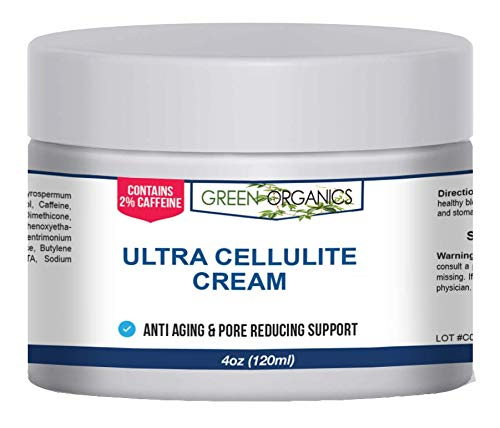 Green Organics Anti Cellulite Treatment Cream With Caffeine And Retinol For Smooth, Radiant Skin (4 Oz) (Best Aminophylline Cream For Cellulite)