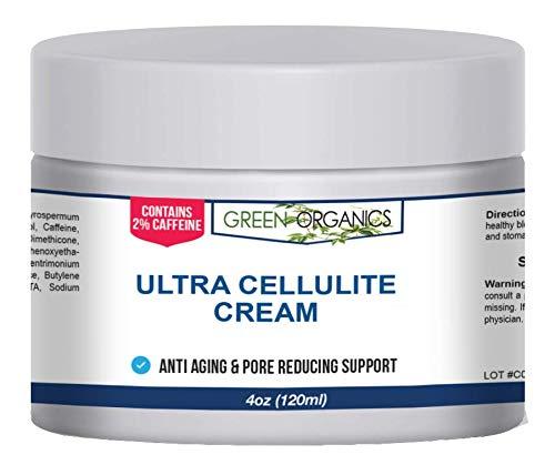 Green Organics Anti Cellulite Treatment Cream With Caffeine And Retinol For Smooth, Radiant Skin (4 Oz)