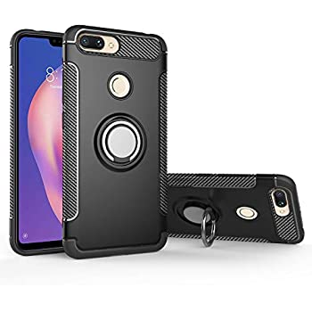 Amazon.com: Xiaomi Mi 8 lite Case,360° Rotating Ring ...