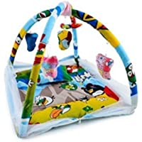 Novelty Baby Bedding Set with Mosquito Net and Play Gym with Hanging Toys (Blue)