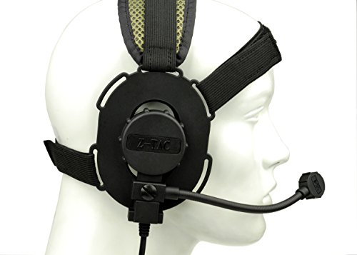 Bowman Evo III military headset With TCI Tactical PTT Z029,Tactical headphones,Anti noise headphones,Outdoor headphones,walkie talkie,hunting,Anti interference headphones(Black)