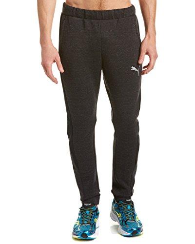 PUMA Men's Evostripe Proknit Pants, Cotton Black Heather, Large