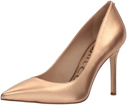 Sam Edelman Women's Hazel Pump, Golden Copper Metallic Leather, 5.5 M - Metallic Leather Copper