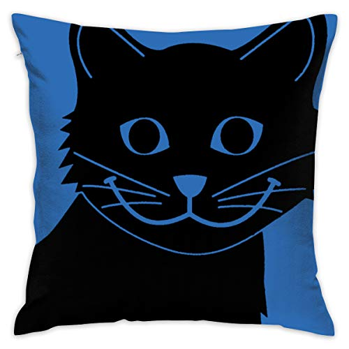 Karen Felix Throw Pillow Covers Happy Cat Sad Fish Decorative Cushion Case for Sofa Bedroom Car 18 X 18 Inch 45 X 45 cm ()