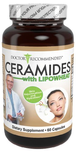 Ceramides with Lipowheat - Doctor Recommended Formula - Phytoceramides - With Vitamins C and E to Provide Your Skin with Hydration and Rejuvenation by Doctor Recommended