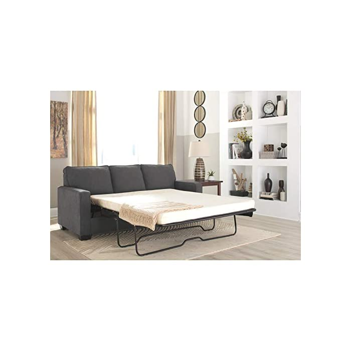 Swell Signature Design By Ashley Zeb Queen Size Contemporary Sleeper Sofa Charcoal Dailytribune Chair Design For Home Dailytribuneorg
