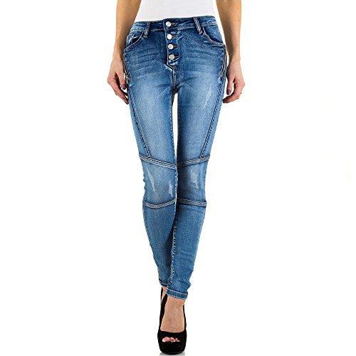 iTaL Azul mujer skinny para Vaqueros dESiGn qPwAT
