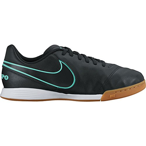 Football Trainers Junior (NIKE Junior Tiempox Legend VI IC Football Boots 819190 Trainers (UK 2.5 us 3Y EU 35, Black Hyper Turquoise 004))