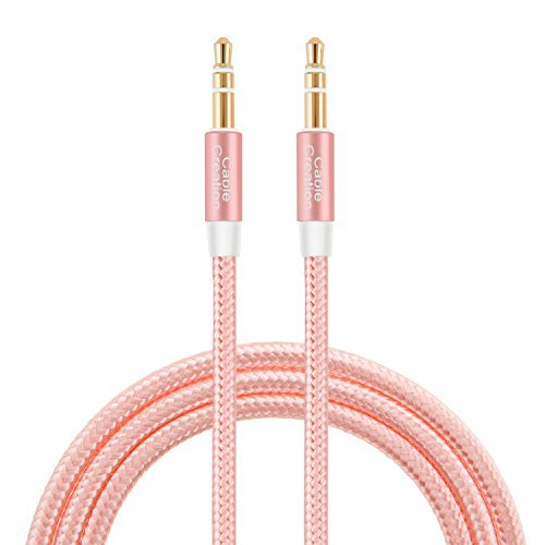 Audio Cable,CableCreation 1.5 ft 3.5mm Male to Male Auxiliary Stereo Cable Compatible Car,Headphones, Tablets,Laptops,Android Smart Phones& More, 0.4M /Rose Gold