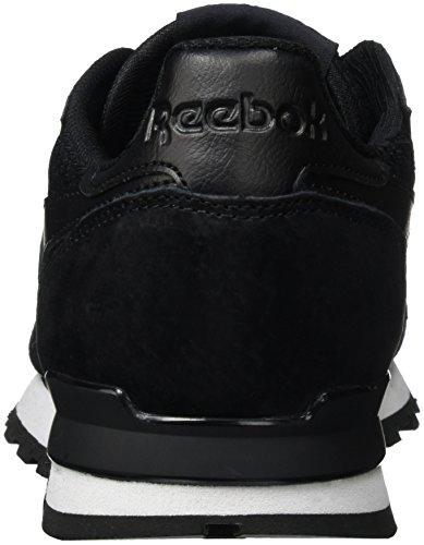 Reebok Classic Leather Clip Tech, Zapatillas para Hombre Negro (Black/White)