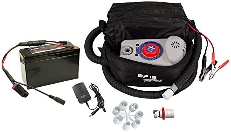 Bravo Bp12kit Single Stage Electric Pump With Battery For Inflatable Sups Kayaks And Other Inflatable Boats Amazon Co Uk Sports Outdoors