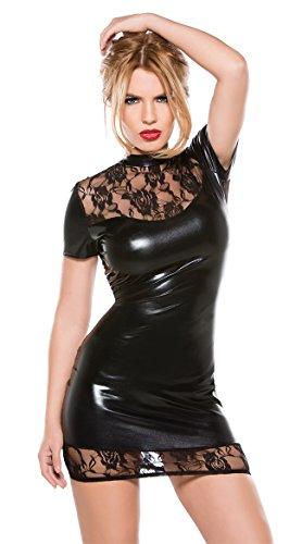 GGTBOUTIQUE - Robe - Trapèze - Femme Noir Noir 36