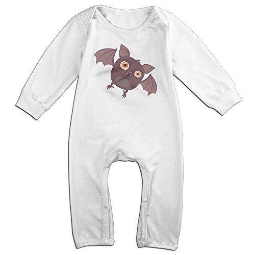 Tongbu Bat Clipart Baby's Bodysuit Climb Clothes Boy & Girl Soft Cotton Long Sleeve Romper Jumpsuit 12 MonthsWhite (Promo Codes For Cookies By Design)