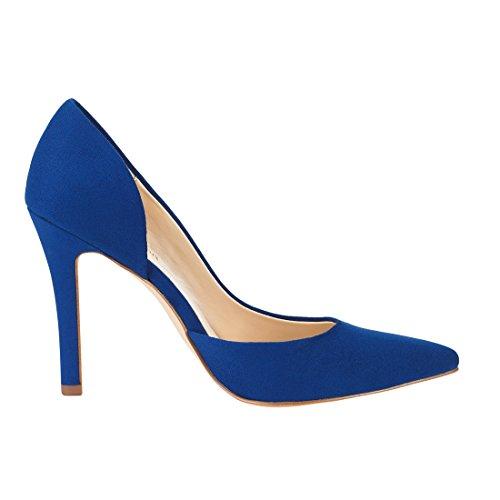 JENN ARDOR Stiletto High Heel Shoes for Women: Pointed, Closed Toe Classic Slip On Dress Pumps-Blue by JENN ARDOR (Image #4)