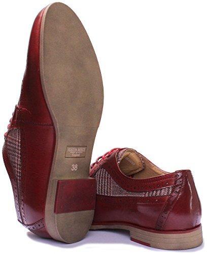 Justin Reece Melanie, Chaussures de ville à lacets pour femme Bordeaux