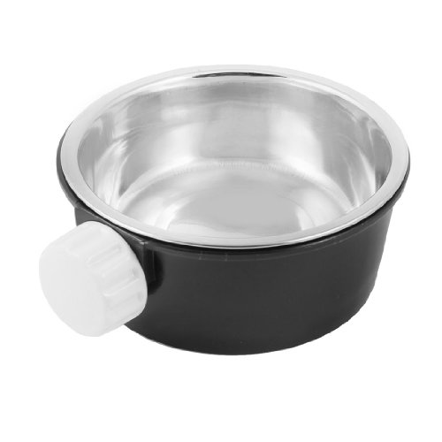 Jardin 2-in-1 Round Food/Water Feeding Dish/Bowl for Pets, Black