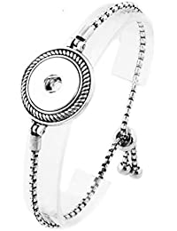 Interchangeable 18mm Snap Jewelry Adjustable Slider Strand Bracelet - Designer Style by