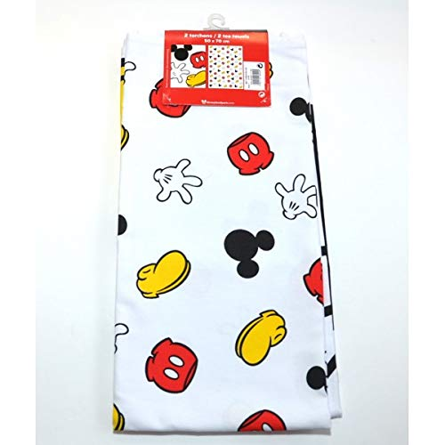 Printed Mickey Mouse Body Parts Tea Towel, Disneyland ()
