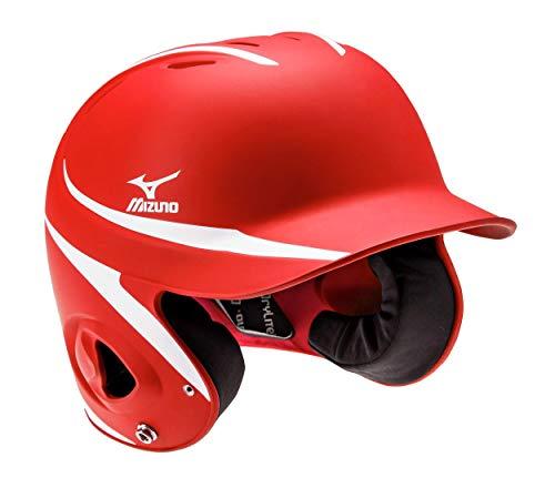 Mizuno MVP Series Two-Tone S/M Batting Helmet, Size No Size, Red-White (1000)