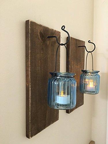 Reclaimed Wood Mason Jar Wall Sconce ...