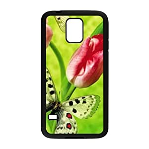 Painted Pink Tulips back phone Case cover samsung galaxy S5