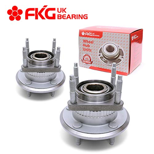 FKG 512302 Rear Wheel Bearing Hub Assembly for 2006-2010 Jeep Commander, 2005-2010 Jeep Grand Cherokee 5 Lugs, Set of 2