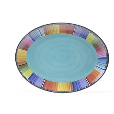 Certified International Serape Melamine Oval Platter, 18 by 13.5-Inch