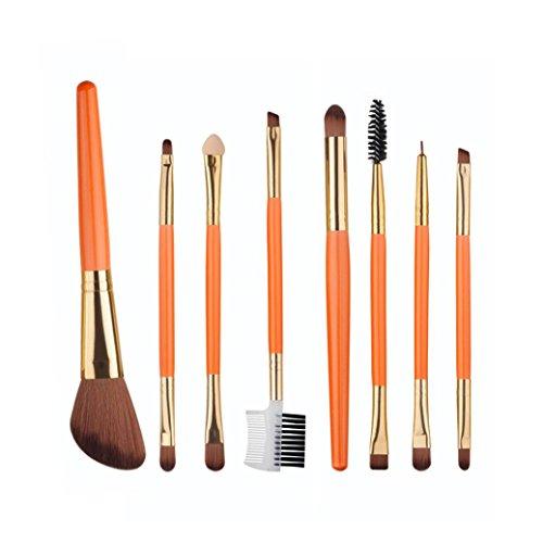 Vovotrade 8pcs Pro Make Up Foundation Eyebrow Eyeliner Blush Cosmetic Concealer Brushes (Orange)