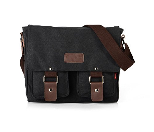 nasis-men-women-cotton-canvas-colonial-italian-style-messenger-shoulder-cross-body-bag-al4050-black