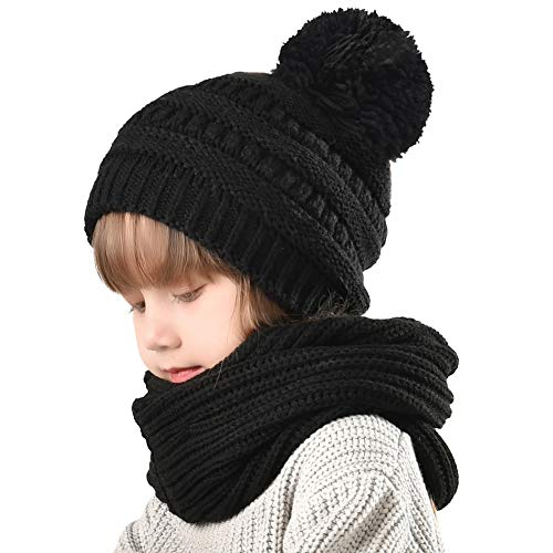 FURTALK Kids Toddler Winter Hat Scarf-Boys Knit Girls Pom Beanie Christmas Gift (1-5 Years)