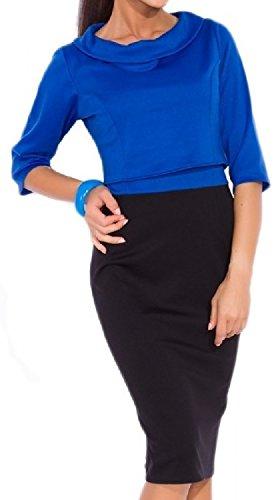 Glamour Empire. Mujer Alta Dos Piezas Vestido Ajustado Top Corto Separado. 612 Azul Real