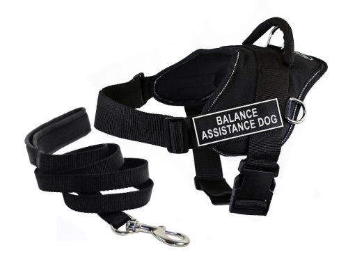 Dean & Tyler's DT Fun ''BALANCE ASSISTANCE DOG'' Harness with Reflective Trim, XX-Small, And 6 ft Padded Puppy Leash. by Dean & Tyler