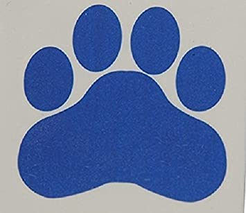 Blue Paw Print Temporary Tattoos Lot Of 144 Size 15quot