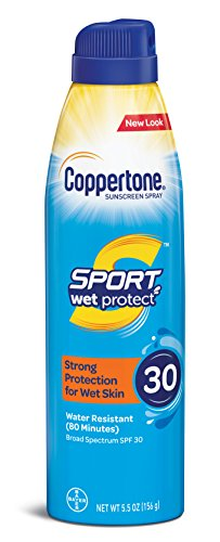 Coppertone Sport Wet Protect Spray Broad Spectrum SPF 30 5.5-Ounce
