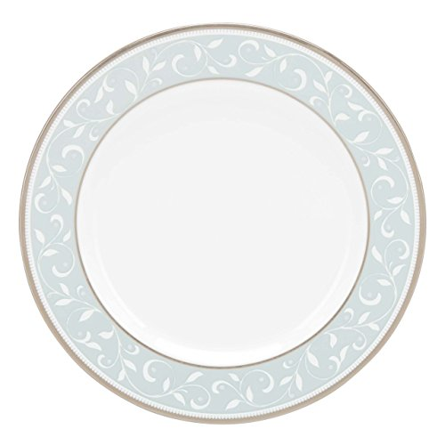 Blue Butter Plate - Lenox Opal Innocence Blue Butter Plate, White